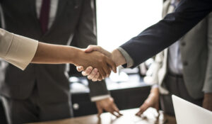 cliente e professionista in comune accordo che si stringono la mano