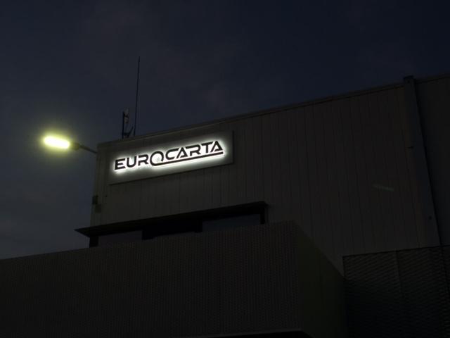 eurocarta insegna luminosa-galleria